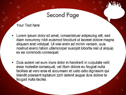 Speech Bubble with New Year Theme PowerPoint Template Slide 2
