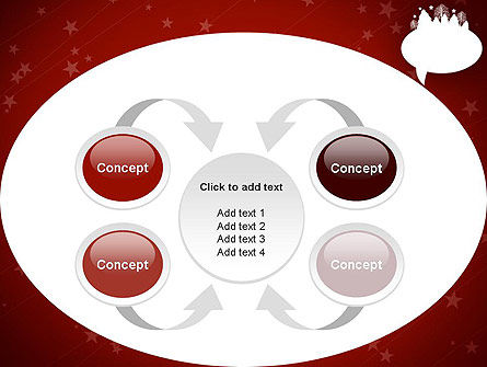 Speech Bubble with New Year Theme PowerPoint Template Slide 6
