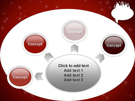 Speech Bubble with New Year Theme PowerPoint Template Slide 7