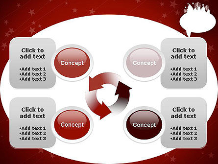 Speech Bubble with New Year Theme PowerPoint Template Slide 9