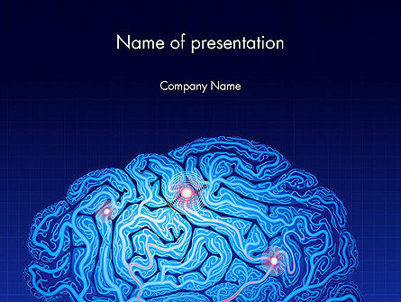 Brain Map Powerpoint Template Backgrounds    PoweredtemplateCom
