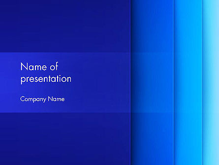 Abstract Blue Vertical Gradient Layers PowerPoint Template