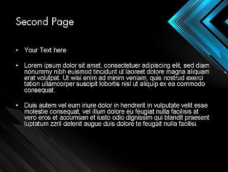 Dark Blue Corner PowerPoint Template Slide 2