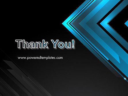Dark Blue Corner PowerPoint Template Slide 20