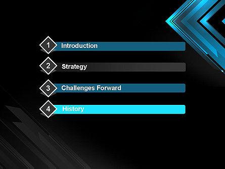 Dark Blue Corner PowerPoint Template Slide 3