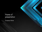 Abstract/Textures: Dark Blue Corner PowerPoint Template #12825