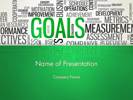 Goals Word Cloud PowerPoint Template, 12826, Business Concepts — PoweredTemplate.com