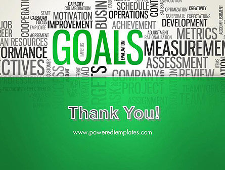 Goals Word Cloud PowerPoint Template Slide 20