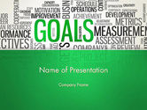 Business Concepts: Goals Word Cloud PowerPoint Template #12826