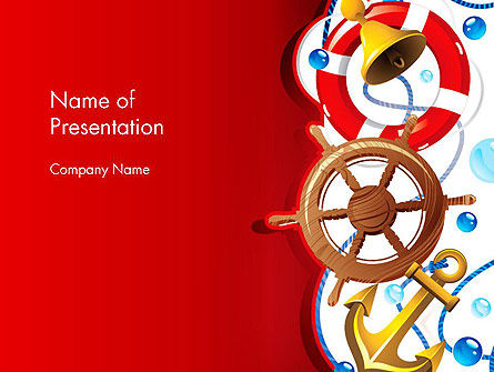 Nautical PowerPoint Template, 12828, Education & Training — PoweredTemplate.com