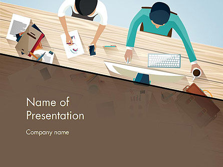 Business Concepts: Startup Teamleden Brainstormen PowerPoint Template #12829