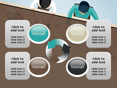 Startup Team Members Brainstorming PowerPoint Template Slide 9