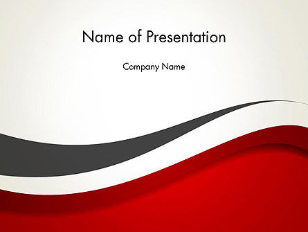 Red and Gray Wave PowerPoint Template