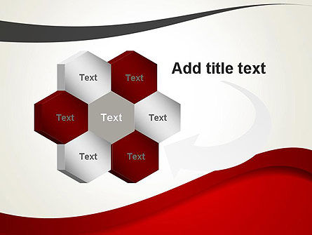 Red and Gray Wave PowerPoint Template Slide 11