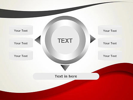 Red and Gray Wave PowerPoint Template Slide 12