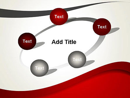 Red and Gray Wave PowerPoint Template Slide 14