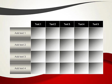 Red and Gray Wave PowerPoint Template Slide 15