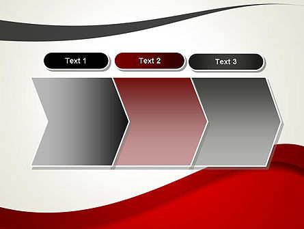 Red and Gray Wave PowerPoint Template Slide 16