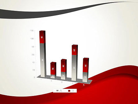 Red and Gray Wave PowerPoint Template Slide 17