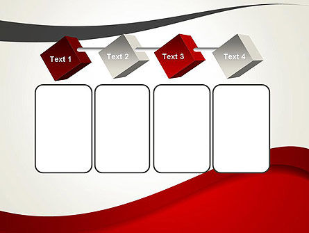 Red and Gray Wave PowerPoint Template Slide 18