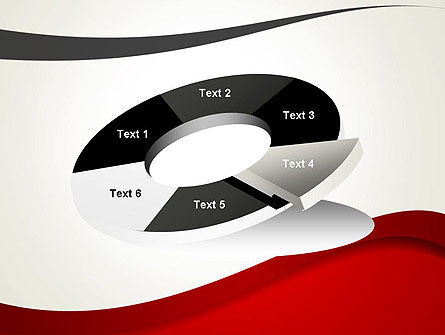 Red and Gray Wave PowerPoint Template Slide 19