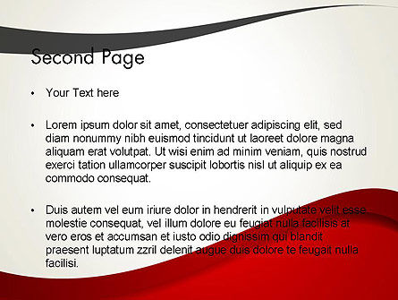 Red and Gray Wave PowerPoint Template Slide 2
