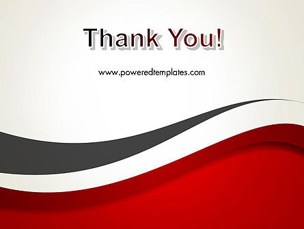 Red and Gray Wave PowerPoint Template Slide 20