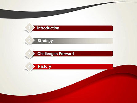 Red and Gray Wave PowerPoint Template Slide 3