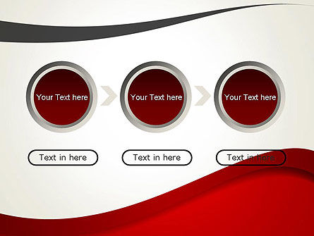 Red and Gray Wave PowerPoint Template Slide 5