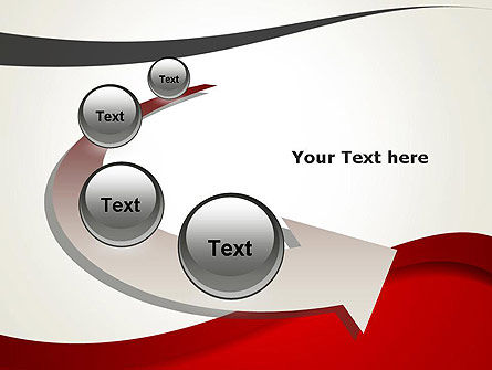 Red and Gray Wave PowerPoint Template Slide 6