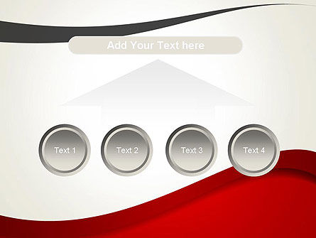Red and Gray Wave PowerPoint Template Slide 8