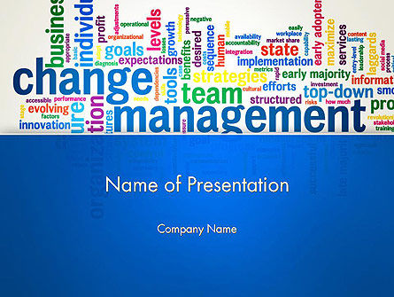 Management Word Cloud PowerPoint Template