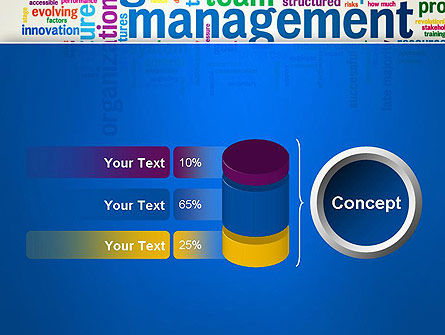 Management Word Cloud PowerPoint Template Slide 11