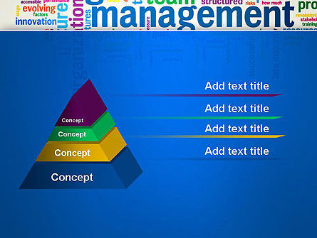 Management Word Cloud PowerPoint Template Slide 12