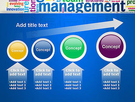 Management Word Cloud PowerPoint Template Slide 13