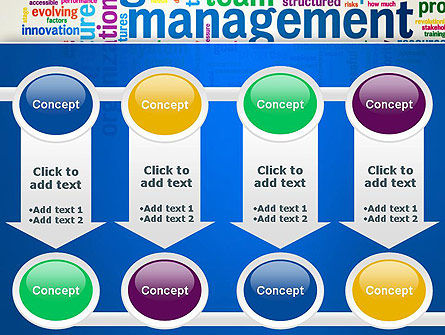 Management Word Cloud PowerPoint Template Slide 18