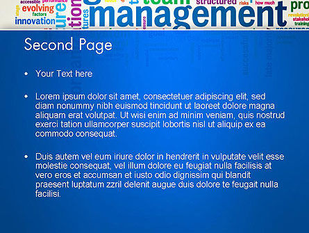 Management Word Cloud PowerPoint Template Slide 2