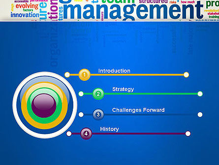 Management Word Cloud PowerPoint Template Slide 3