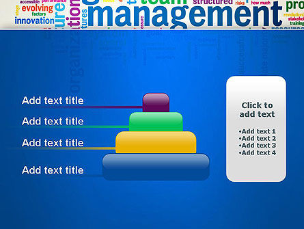 Management Word Cloud PowerPoint Template Slide 8