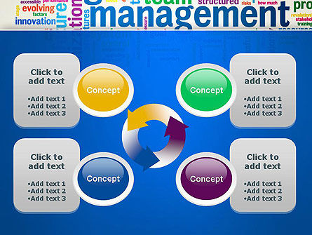 Management Word Cloud PowerPoint Template Slide 9
