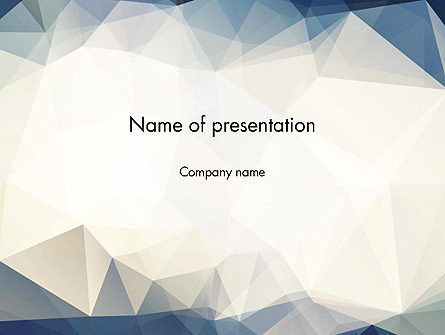 Hipster Triangles Pattern PowerPoint Template