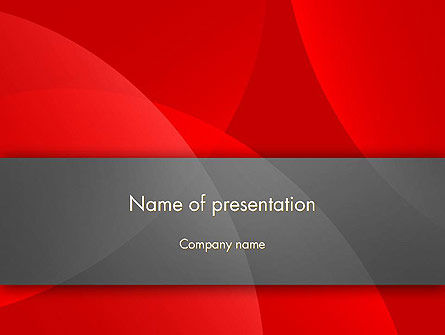 Abstract Red Circles PowerPoint Template