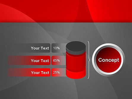Abstract Red Circles PowerPoint Template Slide 11
