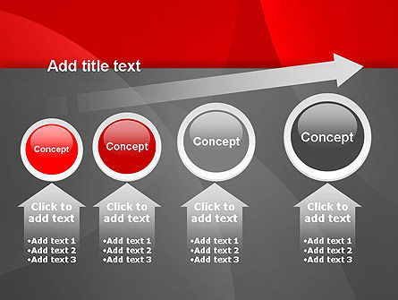 Abstract Red Circles PowerPoint Template Slide 13