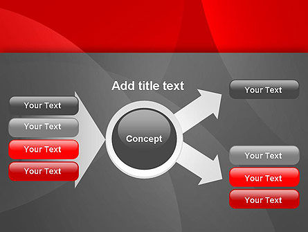 Abstract Red Circles PowerPoint Template Slide 14