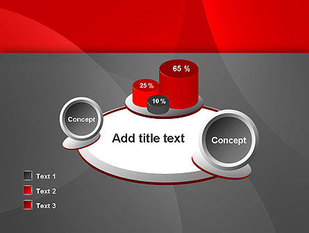 Abstract Red Circles PowerPoint Template Slide 16