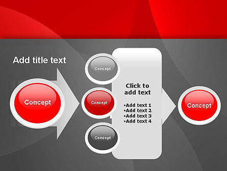 Abstract Red Circles PowerPoint Template Slide 17