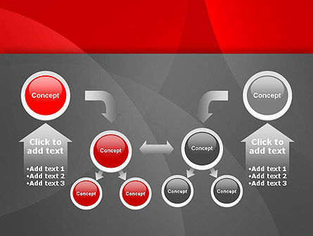 Abstract Red Circles PowerPoint Template Slide 19