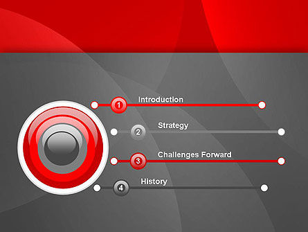 Abstract Red Circles PowerPoint Template Slide 3