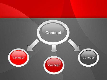 Abstract Red Circles PowerPoint Template Slide 4